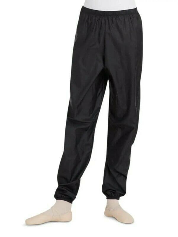 Capezio Rip Stop Warm Up Work Out Pants Dance Ballet Nylon Black 10111